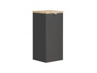 Capri Black 811 - szafka niska z koszem